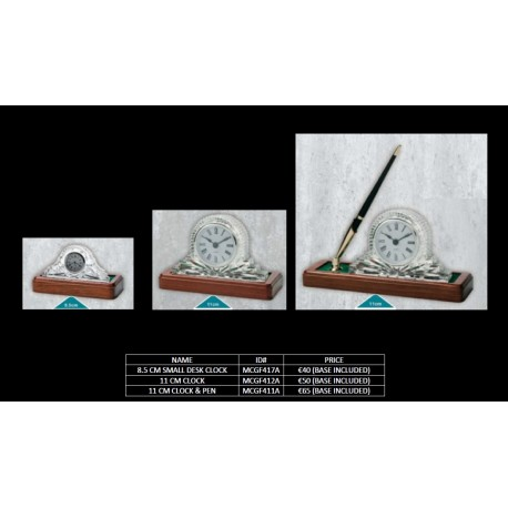 11 Cm Clock & Pen (base included)