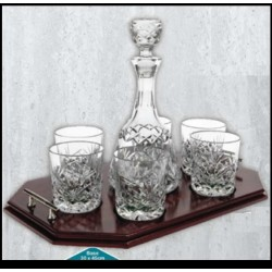 Decanter and 6 Glasses with Tray