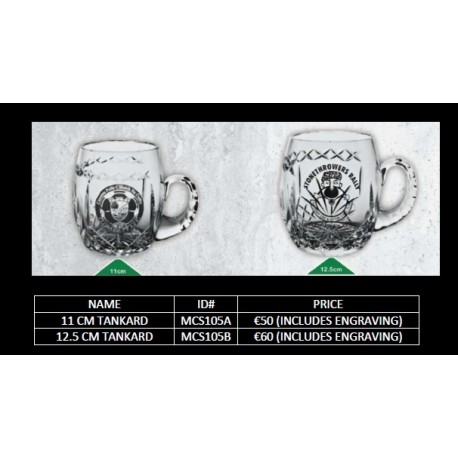 12.5 cm Tankard with engraving