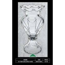 35 CM Scalloped Vase